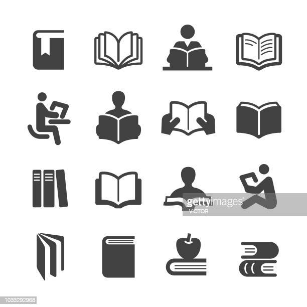 books icons set - acme series - showing stock illustrations