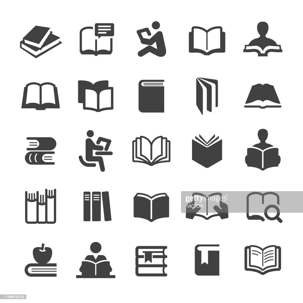 書籍アイコンセット - スマートシリーズ : ストックイラストレーション