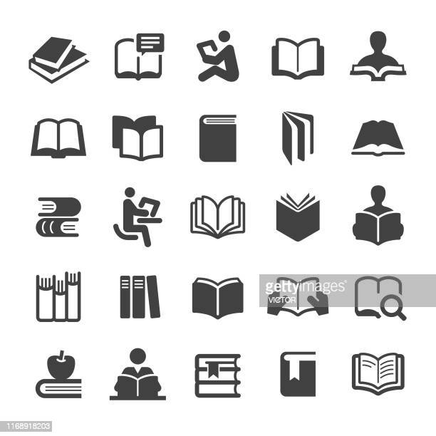 books icons set - smart series - book stock illustrations