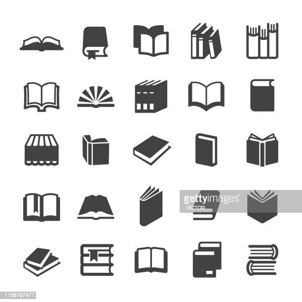 books icons - smart series - open stock illustrations