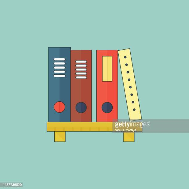 ilustrações, clipart, desenhos animados e ícones de cena da biblioteca dos livros - livraria