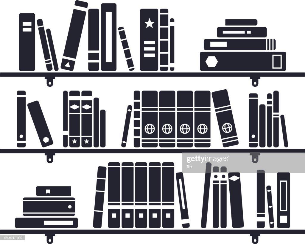 書棚の本 : ストックイラストレーション