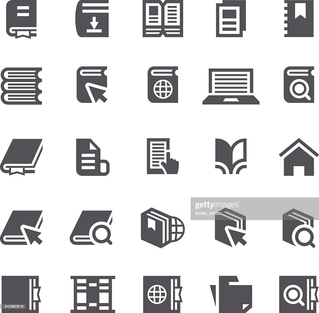 Books reader icons