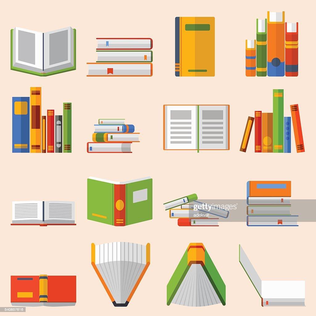 Books set vector illustration.