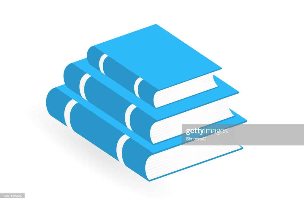 Books Stack Icons. Vector Isolated Pictogram