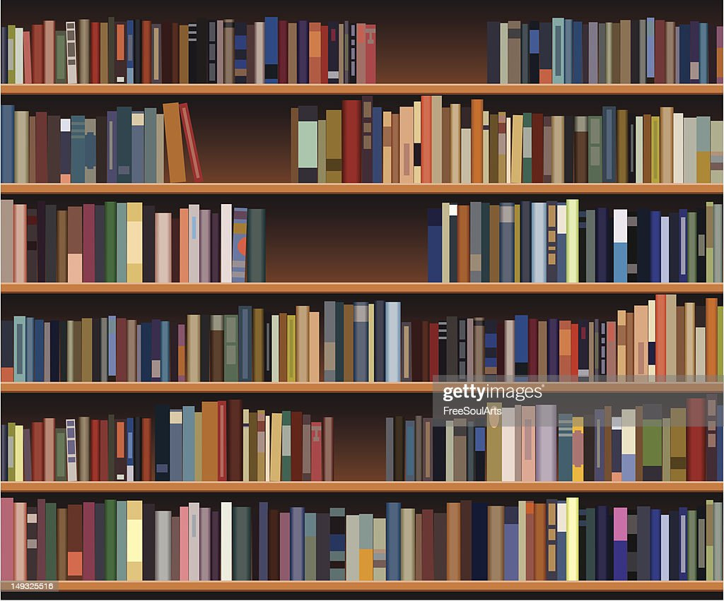 A bookshelf that is filled with a lot of books