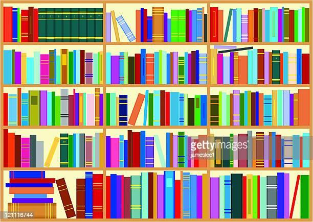 bookshelf - encyclopaedia stock illustrations, clip art, cartoons, & icons