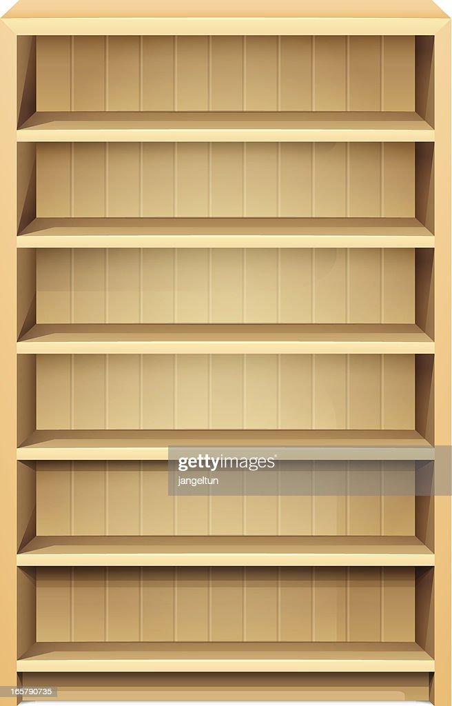 Bookshelf : stock illustration