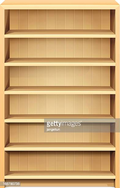 bookshelf - display cabinet stock illustrations, clip art, cartoons, & icons