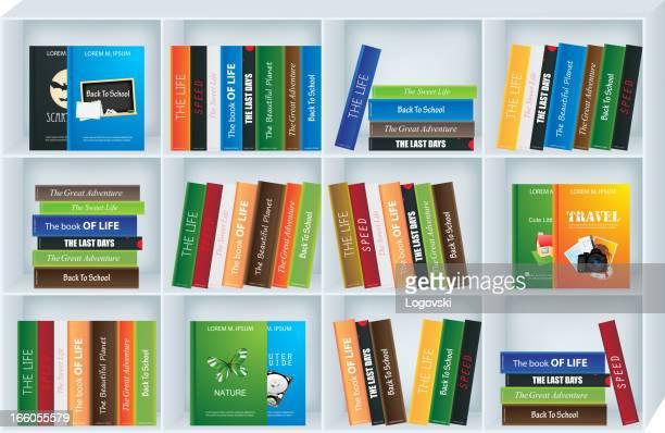 ブックシェルフ - 本棚点のイラスト素材/クリップアート素材/マンガ素材/アイコン素材