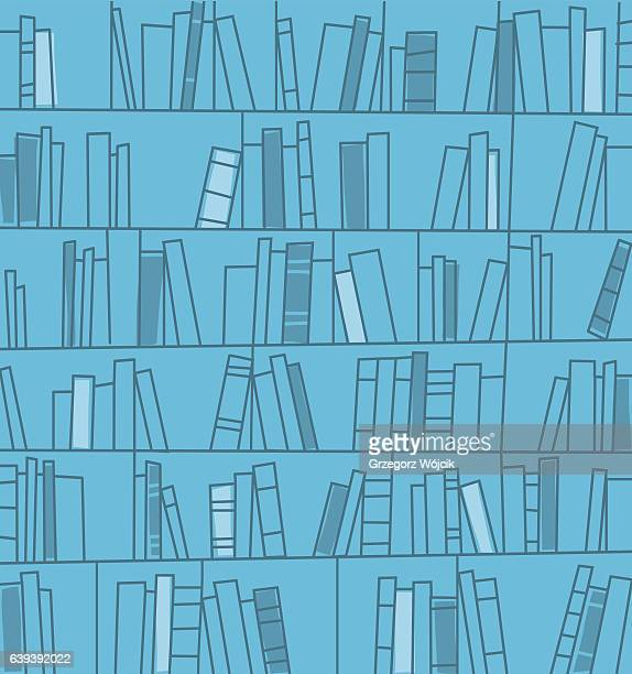 bookshelves background. vector illustration. - library stock illustrations
