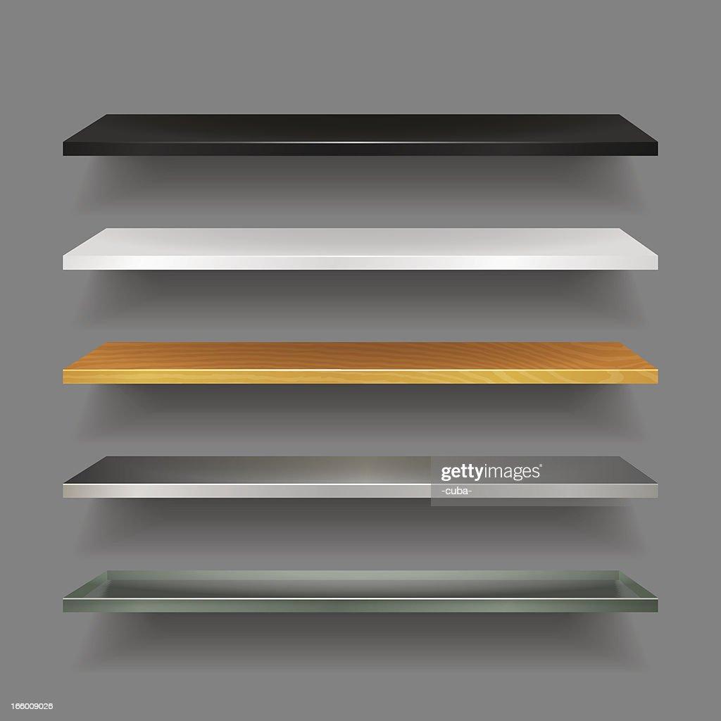 ブックシェルフのコレクション : ストックイラストレーション