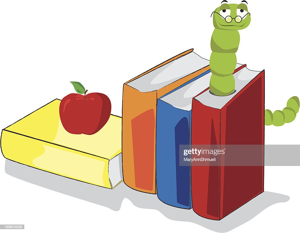 Bookworm : stock illustration