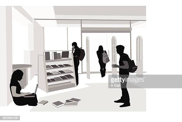 bookworm - entrance stock illustrations, clip art, cartoons, & icons