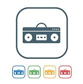 Boom box flat Icon Isolated on White Background.vector illustration icon