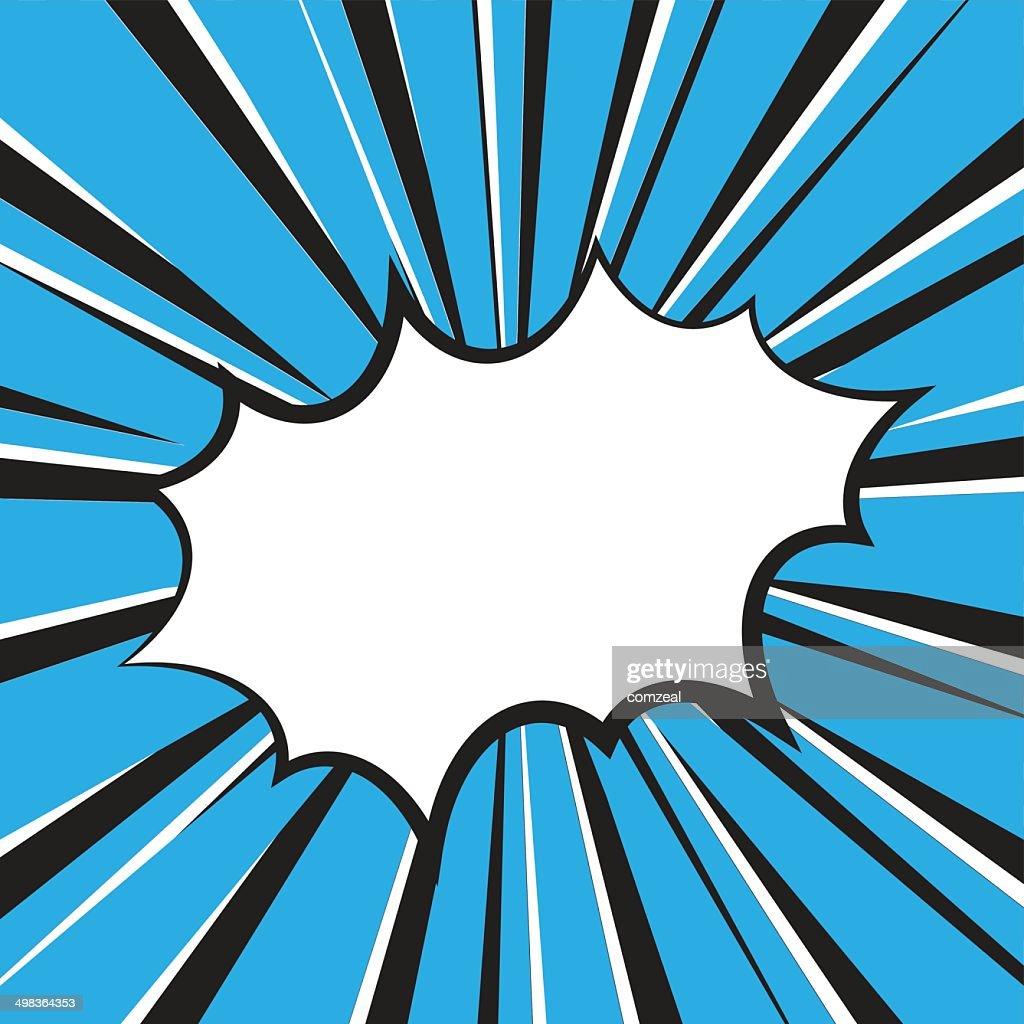 Boom comic book explosion, Vector illustration comic style