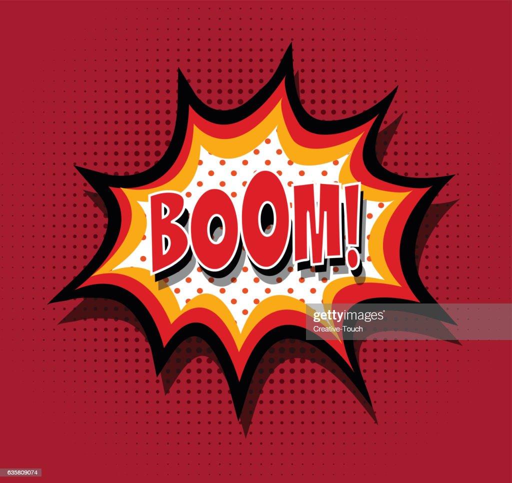 Boom! - Comic Speech Baloon