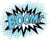 Boom! - Comic Speech Bubble, Cartoon, 3c