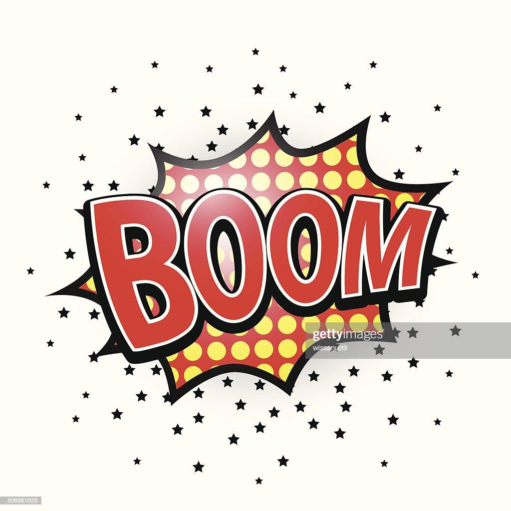 Boom, Comic Speech Bubble