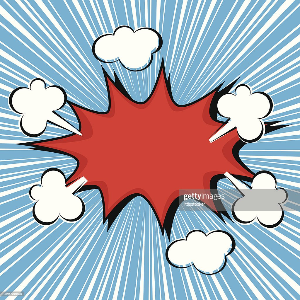 Boom comic speech bubble, vector illustration