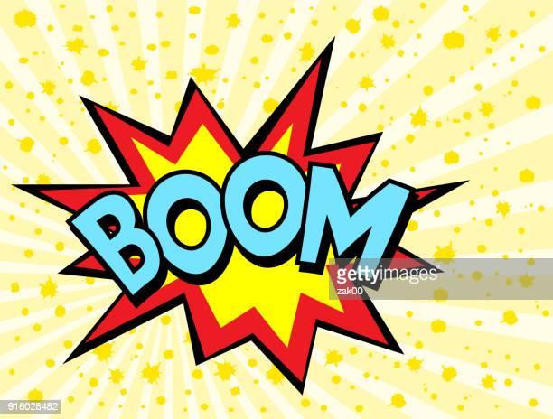 ilustrações de stock, clip art, desenhos animados e ícones de boom effect - bomba