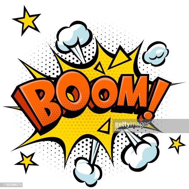boom effect vector - exploding stock illustrations