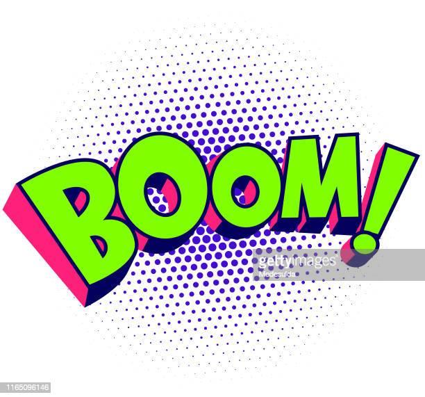 boom effect vector - 1980 stock illustrations