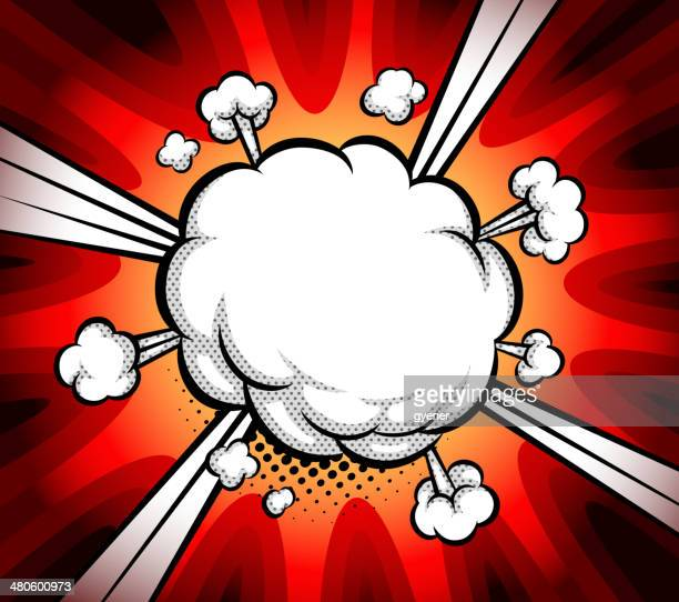 boom exploding bubble - smoke physical structure stock illustrations, clip art, cartoons, & icons