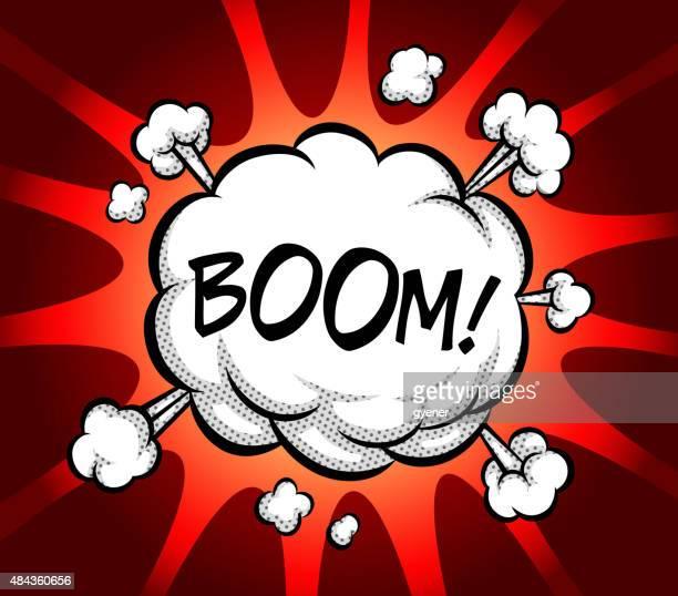 ilustraciones, imágenes clip art, dibujos animados e iconos de stock de auge explosión de pensamiento - bomba