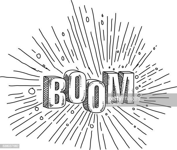 Boom texte Drawing