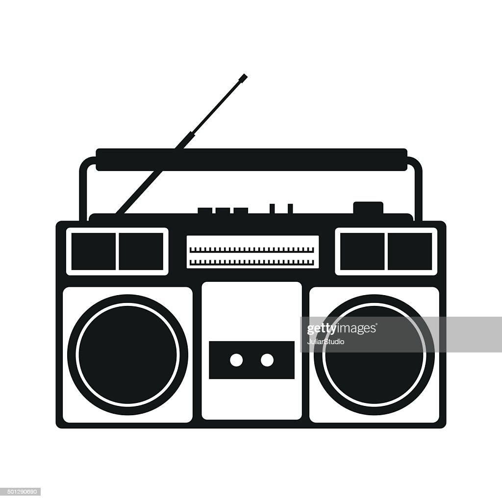 Boombox simple icon
