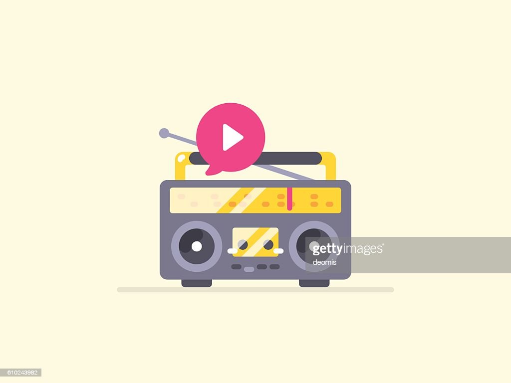 Boombox stereo icon.