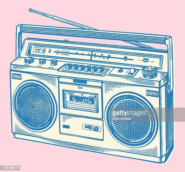 boombox - ラジオ点のイラスト素材/クリップアート素材/マンガ素材/アイコン素材