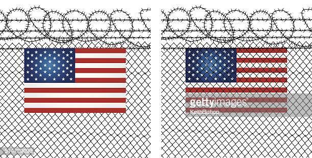 USA frontera valla-In y check-Out, para/A
