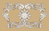 border frame in antique baroque style