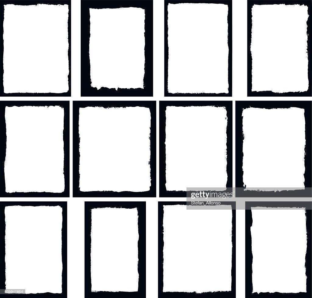 Border frames isolated on white