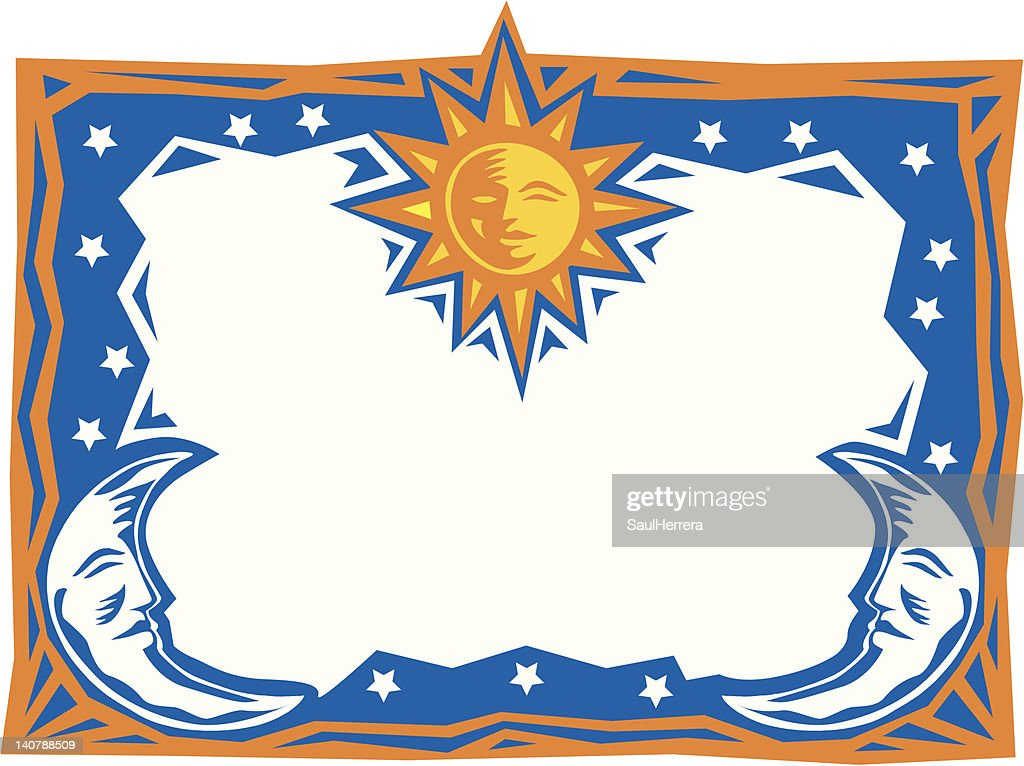 border moon & sun frame