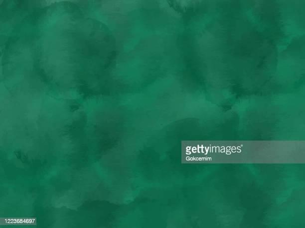illustrazioni stock, clip art, cartoni animati e icone di tendenza di bordo di tonalità di vernice verde smeraldo che spruzzano goccioline. elemento di design tratti acquerello. texture astratta dipinta a mano color verde smeraldo. - screziato