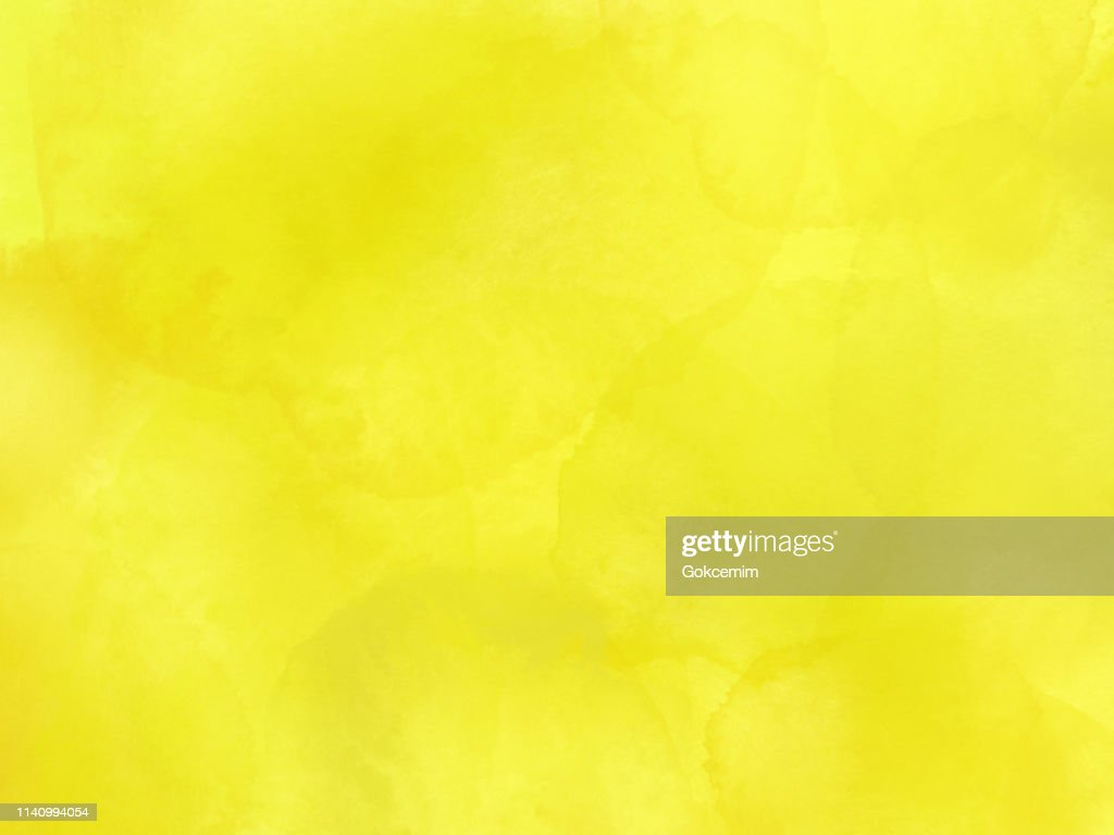 Border of hues of yellow paint splashing droplets. Watercolor strokes design element. Yellow colored hand painted abstract texture. : stock illustration