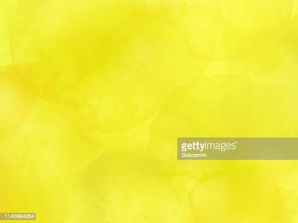 border of hues of yellow paint splashing droplets. watercolor strokes design element. yellow colored hand painted abstract texture. - lemonade stock illustrations