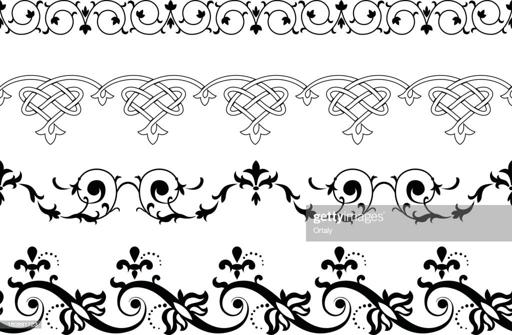 borders decorative lines vector art getty images