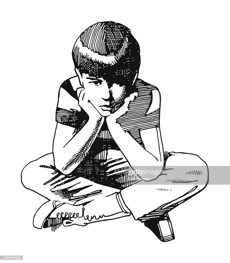 Bored Boy : stock illustration