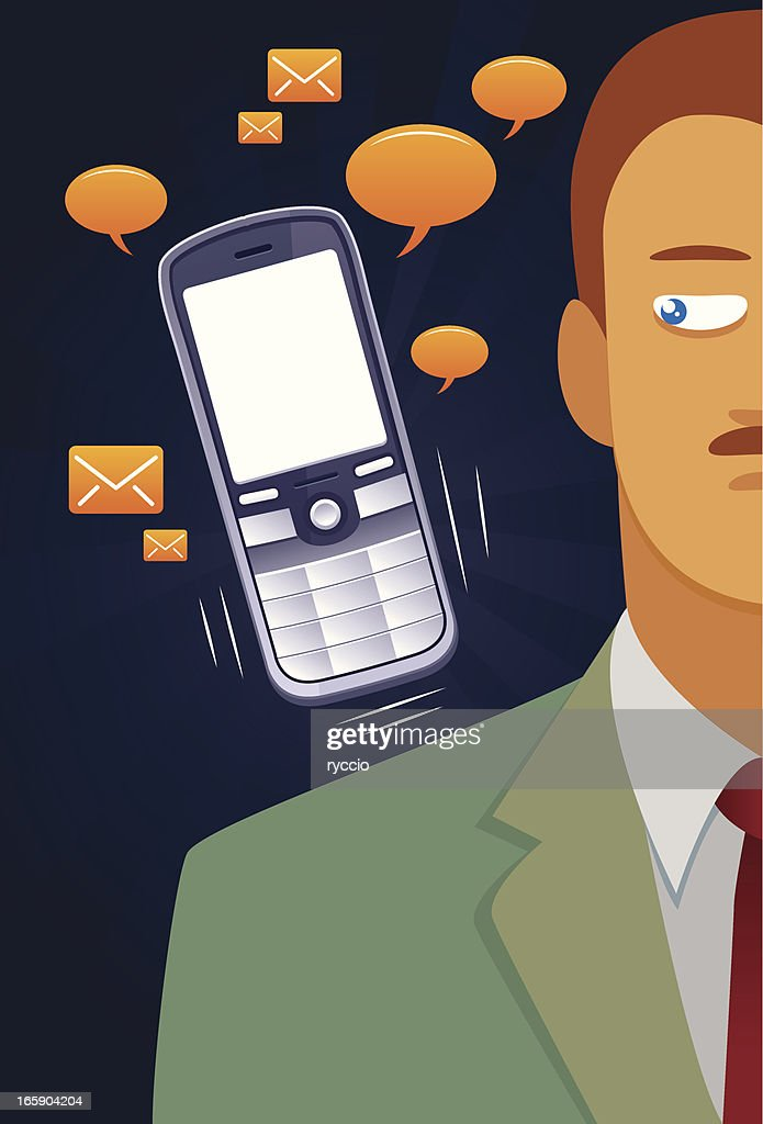 boring phone : stock illustration