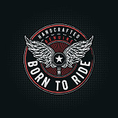 Born to Ride typographic