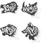 Born wild. Wild animals heads