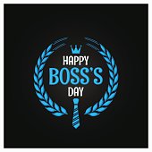boss day icon sign design background
