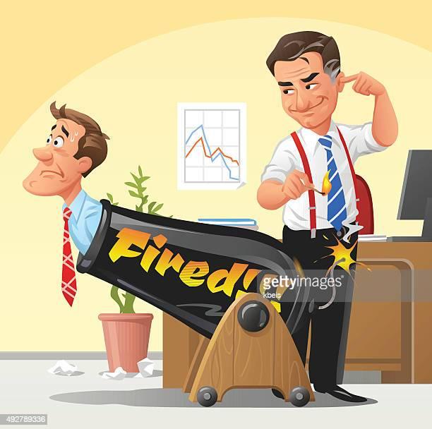 Chef entlassen werden Mitarbeiter