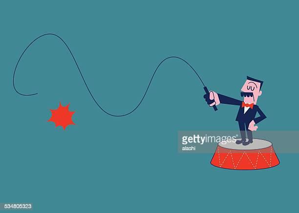 illustrations, cliparts, dessins animés et icônes de boss tenant un fouet - homme soumis