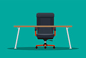 Boss or CEO chair and desktop.