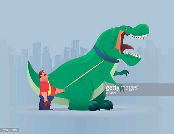 ilustrações de stock, clip art, desenhos animados e ícones de chefe com dinossauro - dinossauro desenho